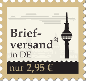 Briefversand in DE nur 2,95 Euro