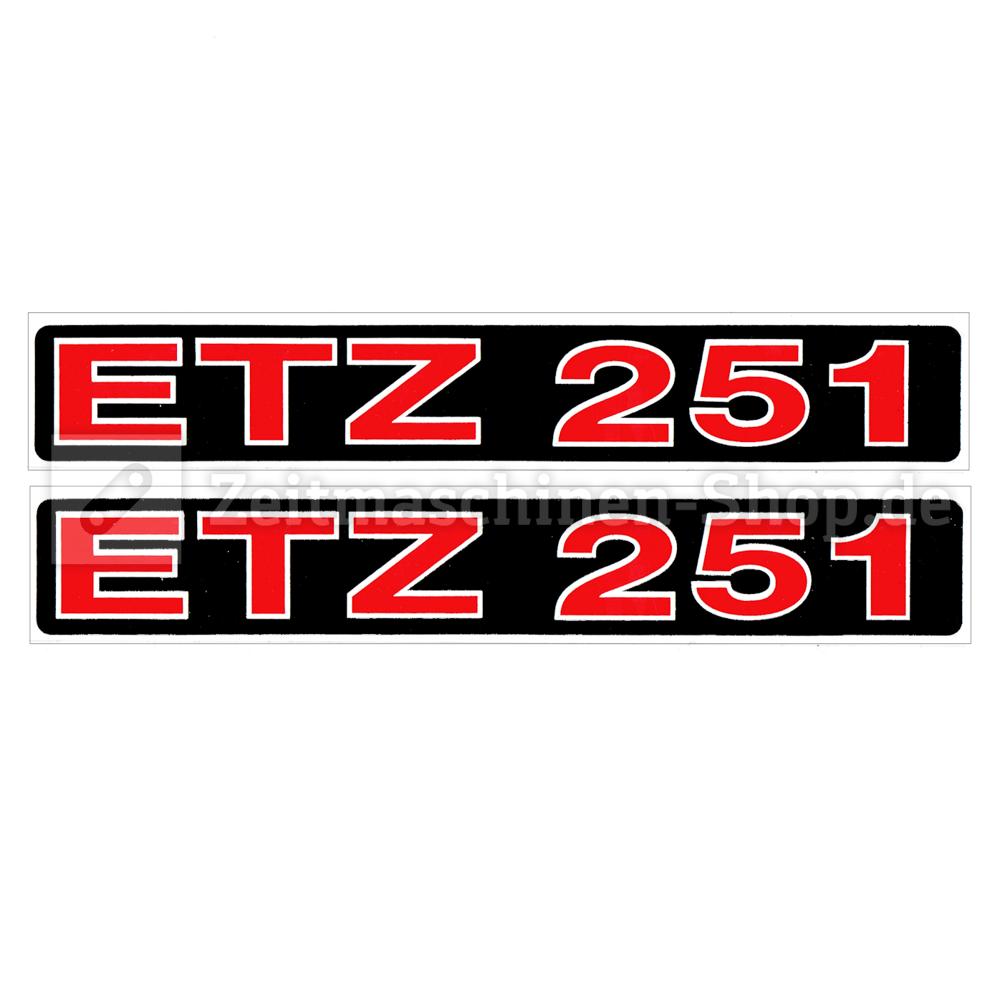 2 St X Aufkleber Für Mz Etz 251 Telegabel 1qualität Uv Beständig Neu