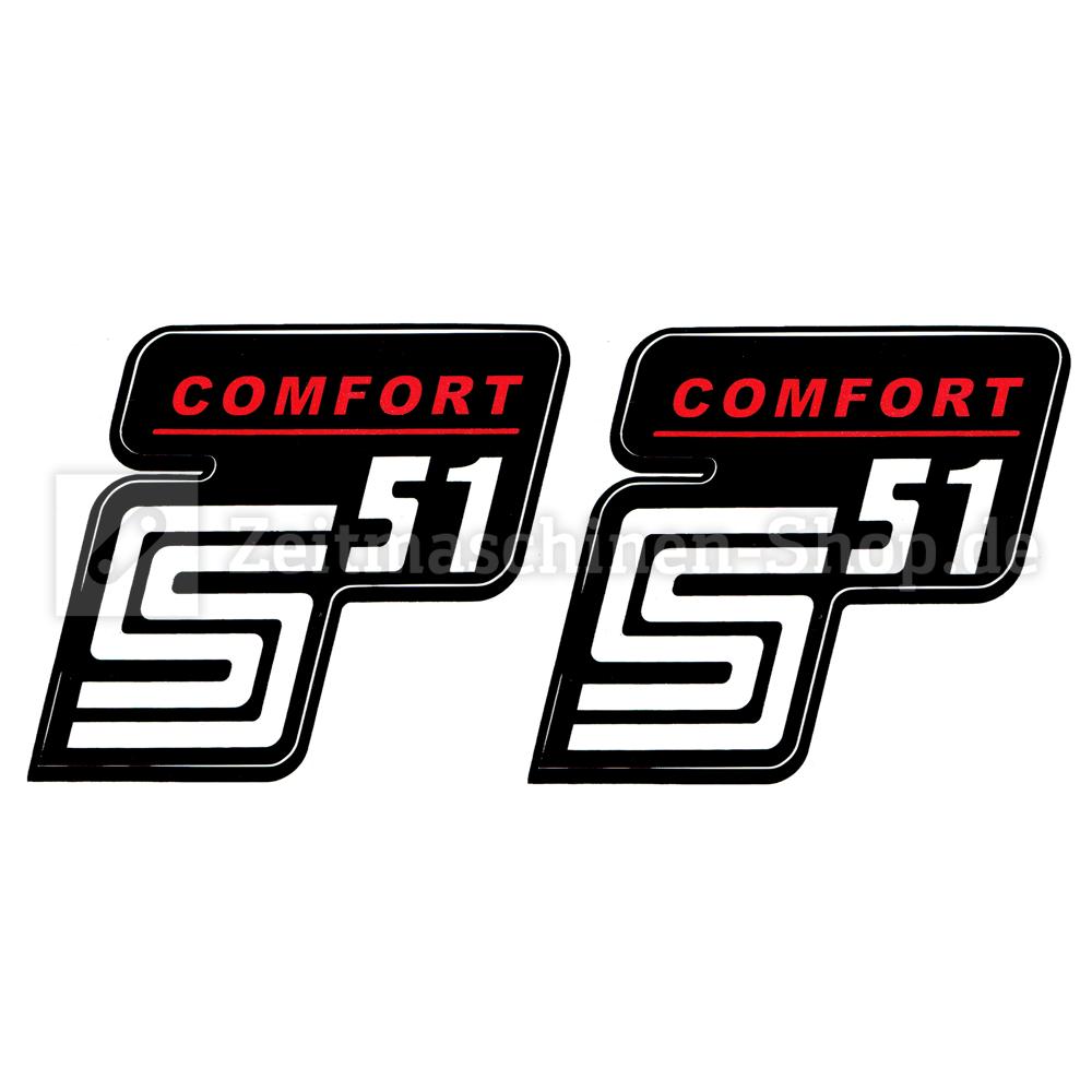 2x Aufkleber Für Simson S51 Comfort Rot Weiß 1qualität Uv Beständig Neu