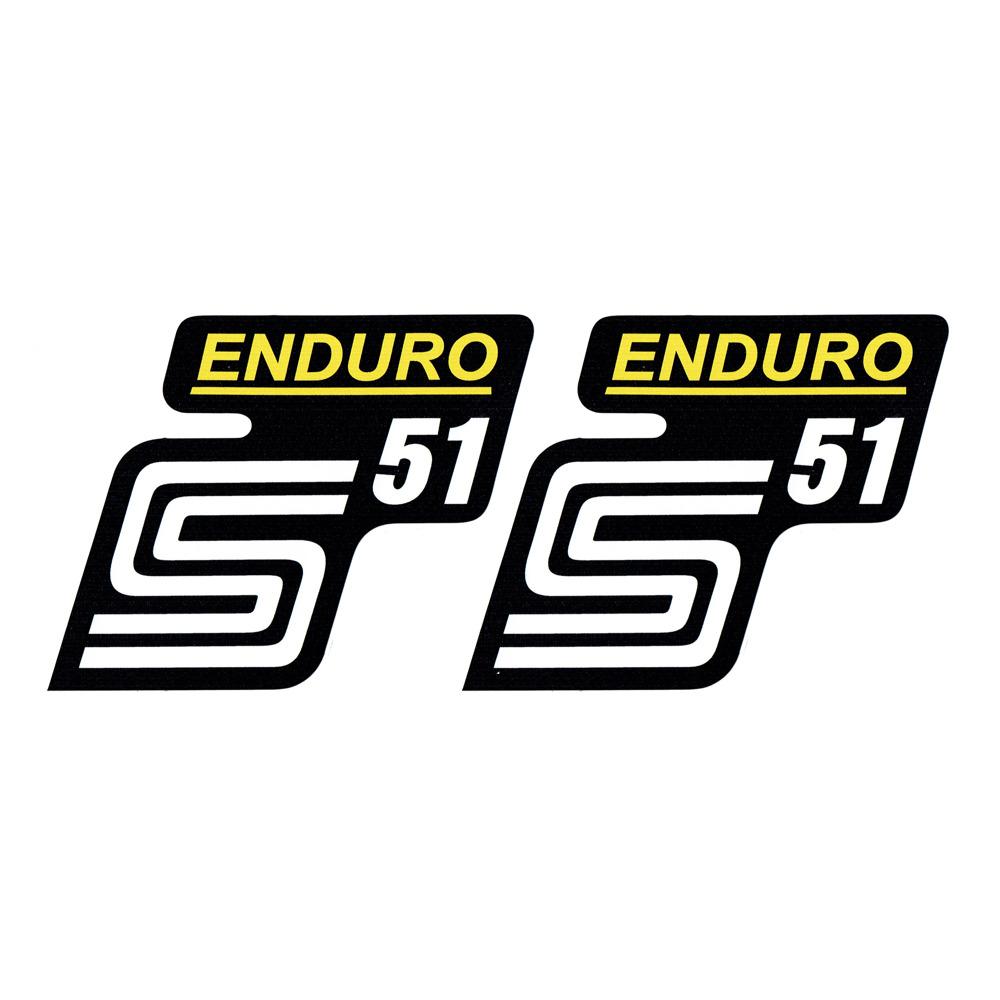 2x Aufkleber Für Simson S51 Enduro Gelb Weiß 1qualität Uv Beständig Neu