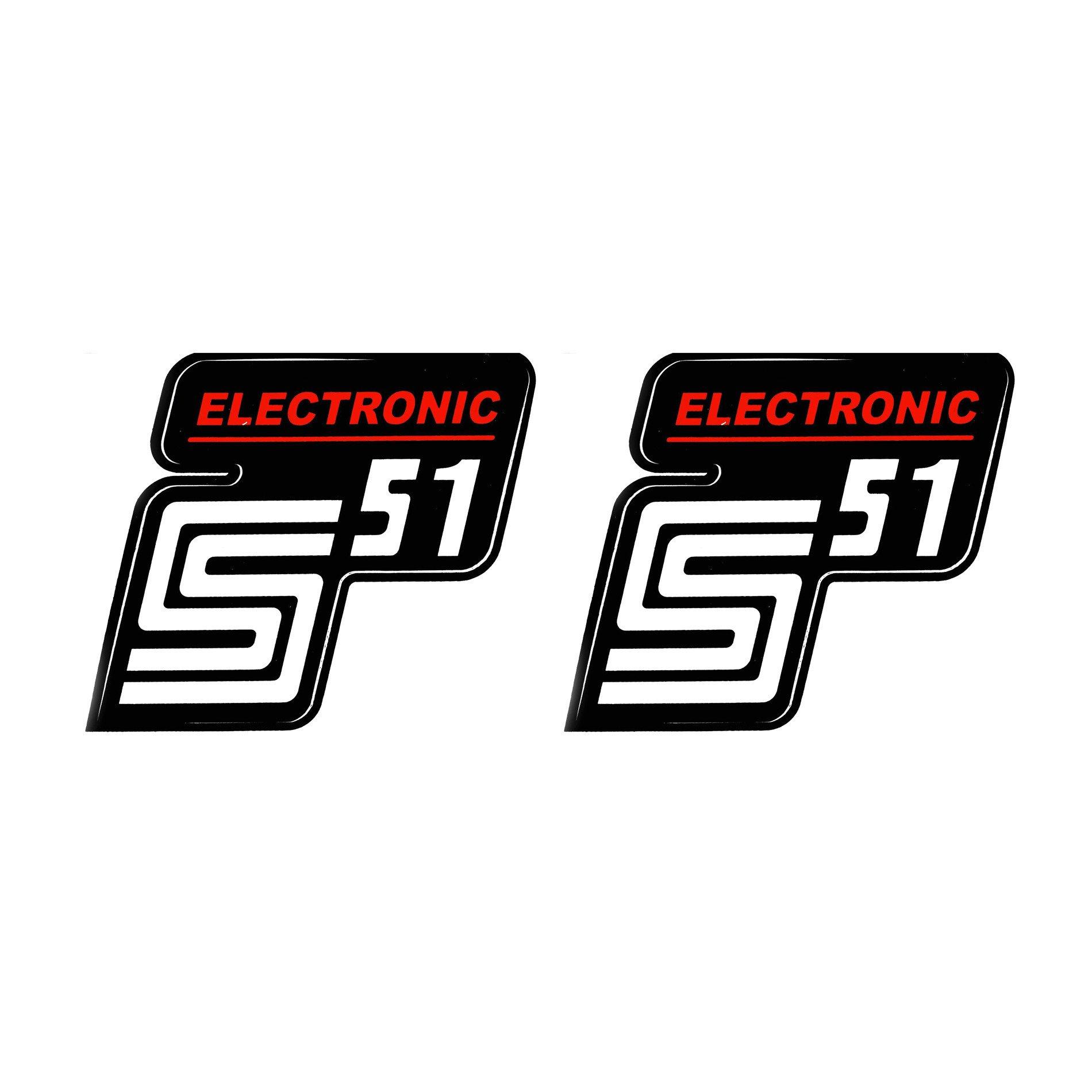 2x Aufkleber Für Simson S51 Electronic Rot Weiß 1qualität Uv Beständig Neu