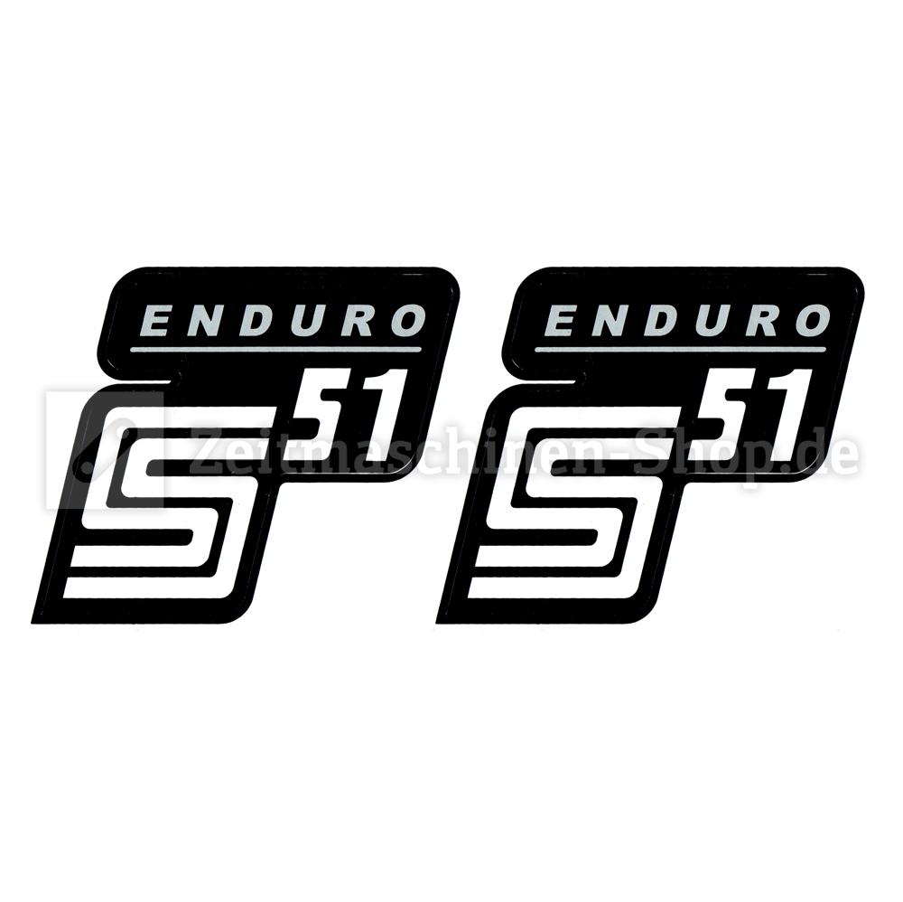 2x Aufkleber Für Simson S51 Enduro Silber Weiß 1qualität Uv Beständig Neu