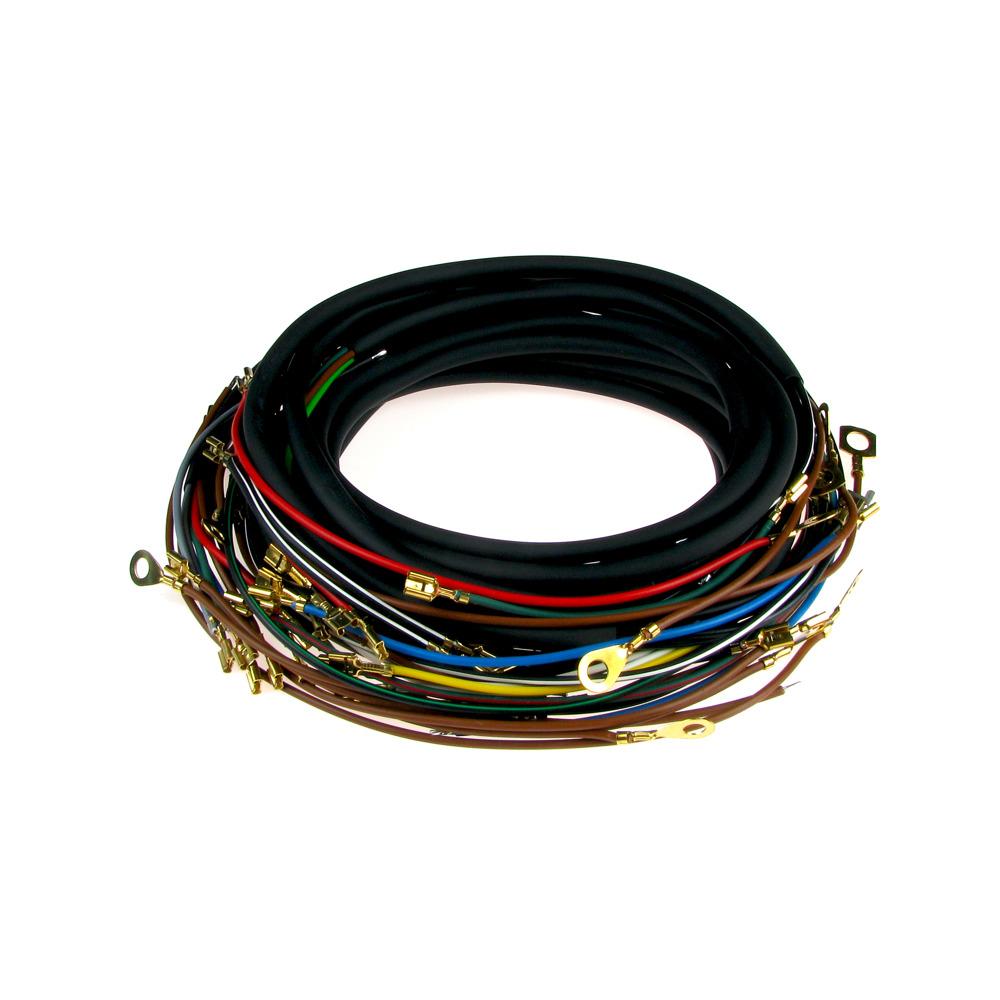 Kabelbaum für MZ TS 125 TS 150 Standard (mit farbigen Schaltplan ...