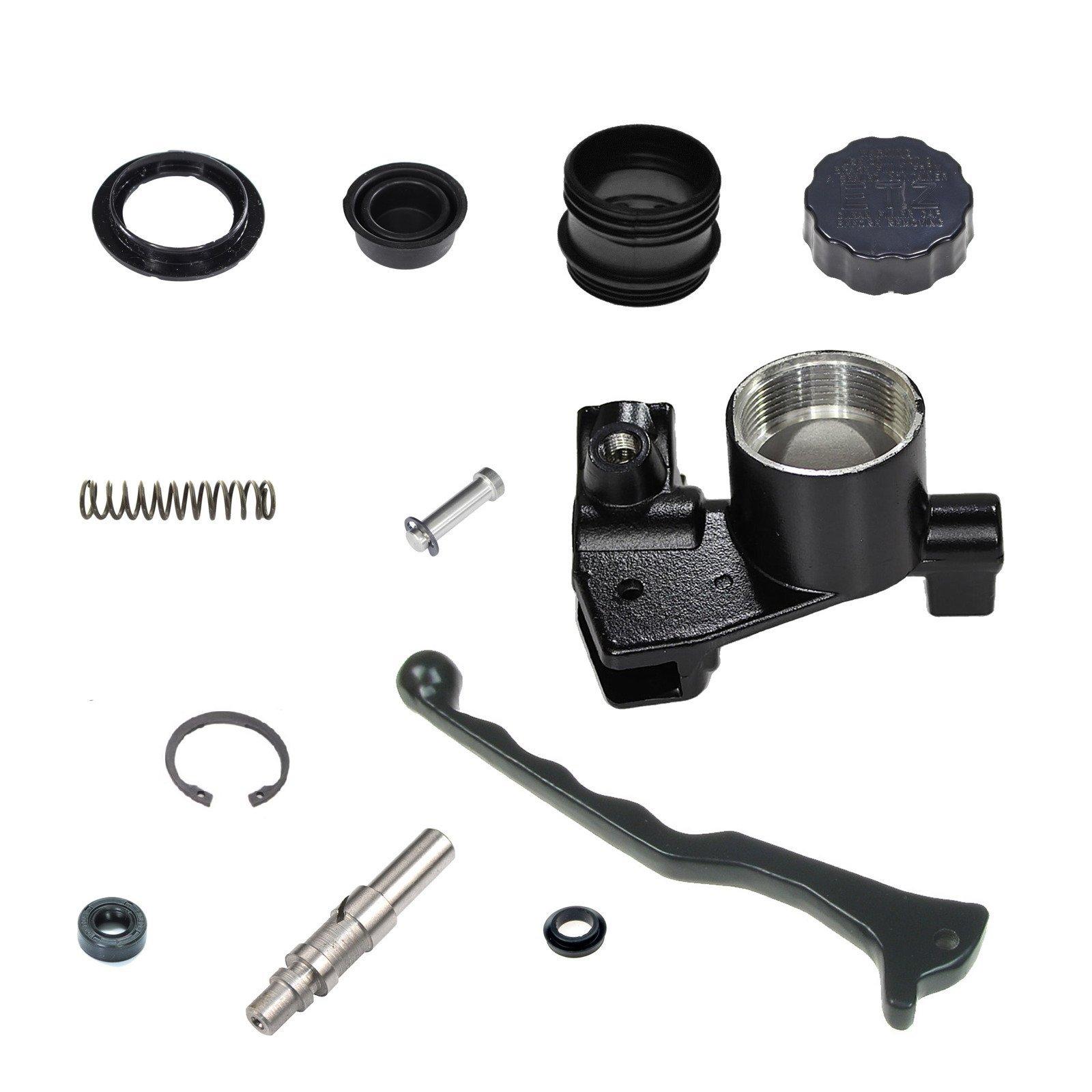 1 Set 125mm Motor Handbremskupplung Hauptbremszylinder Bremspumpe Kupplungsabf/älle Kompatibel mit Shadow 400 600 Magna 250 Steed 400